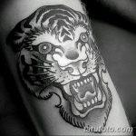 фото татуировка оскал тигра от 01.06.2018 №065 - tiger tattoo - tatufoto.com