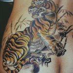фото татуировка оскал тигра от 01.06.2018 №077 - tiger tattoo - tatufoto.com