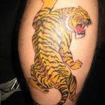 фото татуировка оскал тигра от 01.06.2018 №079 - tiger tattoo - tatufoto.com