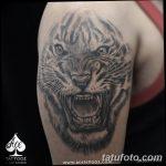фото татуировка оскал тигра от 01.06.2018 №084 - tiger tattoo - tatufoto.com