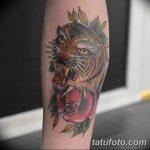 фото татуировка оскал тигра от 01.06.2018 №088 - tiger tattoo - tatufoto.com
