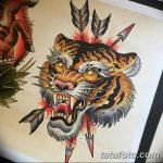 фото татуировка оскал тигра от 01.06.2018 №089 - tiger tattoo - tatufoto.com