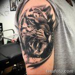 фото татуировка оскал тигра от 01.06.2018 №091 - tiger tattoo - tatufoto.com