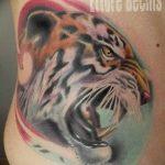 фото татуировка оскал тигра от 01.06.2018 №107 - tiger tattoo - tatufoto.com
