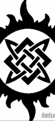 фото тату Звезда Сварога от 08.06.2018 №004 – Star of Svarog tattoo – tatufoto.com