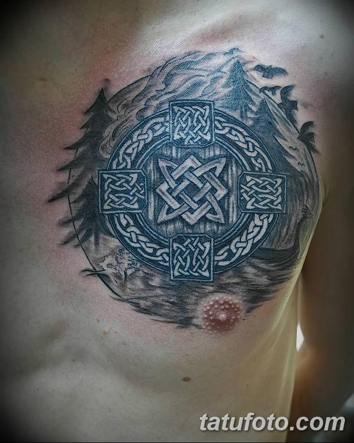 фото тату Звезда Сварога от 08.06.2018 №021 - Star of Svarog tattoo - tatufoto.com