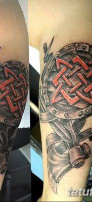 фото тату Звезда Сварога от 08.06.2018 №034 – Star of Svarog tattoo – tatufoto.com