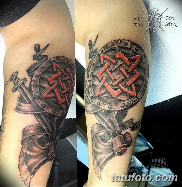 фото тату Звезда Сварога от 08.06.2018 №034 - Star of Svarog tattoo - tatufoto.com