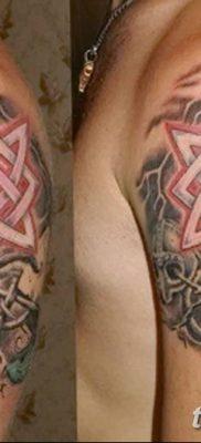 фото тату Звезда Сварога от 08.06.2018 №055 – Star of Svarog tattoo – tatufoto.com