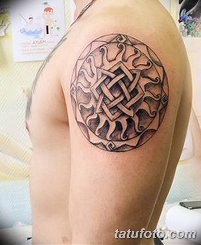 фото тату Звезда Сварога от 08.06.2018 №072 - Star of Svarog tattoo - tatufoto.com