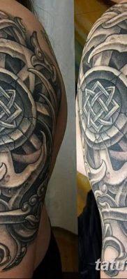 фото тату Звезда Сварога от 08.06.2018 №078 – Star of Svarog tattoo – tatufoto.com