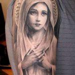 фото тату Икона Божьей Матери от 20.06.2018 №015 - tattoo Mother of God - tatufoto.com