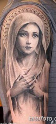 фото тату Икона Божьей Матери от 20.06.2018 №015 – tattoo Mother of God – tatufoto.com