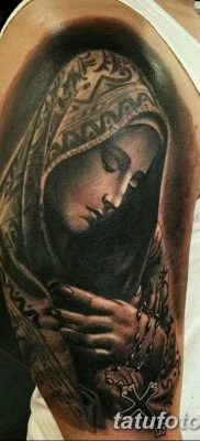 фото тату Икона Божьей Матери от 20.06.2018 №016 – tattoo Mother of God – tatufoto.com