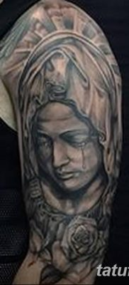 фото тату Икона Божьей Матери от 20.06.2018 №024 – tattoo Mother of God – tatufoto.com