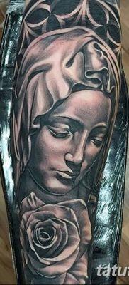 фото тату Икона Божьей Матери от 20.06.2018 №026 – tattoo Mother of God – tatufoto.com