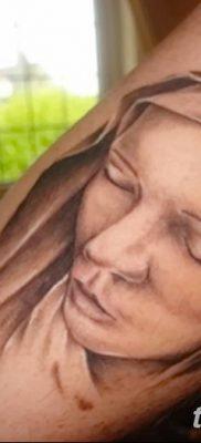 фото тату Икона Божьей Матери от 20.06.2018 №029 – tattoo Mother of God – tatufoto.com