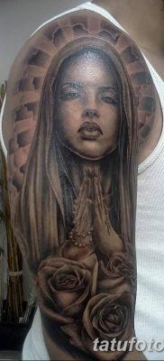 фото тату Икона Божьей Матери от 20.06.2018 №030 – tattoo Mother of God – tatufoto.com