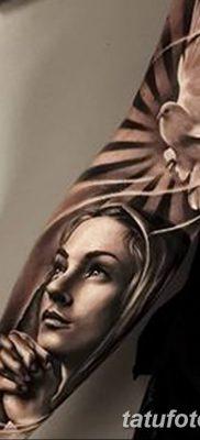 фото тату Икона Божьей Матери от 20.06.2018 №034 – tattoo Mother of God – tatufoto.com