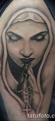 фото тату Икона Божьей Матери от 20.06.2018 №038 – tattoo Mother of God – tatufoto.com