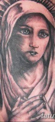 фото тату Икона Божьей Матери от 20.06.2018 №039 – tattoo Mother of God – tatufoto.com
