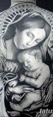 фото тату Икона Божьей Матери от 20.06.2018 №040 – tattoo Mother of God – tatufoto.com