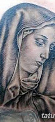 фото тату Икона Божьей Матери от 20.06.2018 №043 – tattoo Mother of God – tatufoto.com