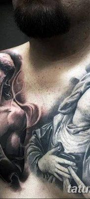 фото тату Икона Божьей Матери от 20.06.2018 №045 – tattoo Mother of God – tatufoto.com