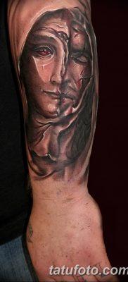 фото тату Икона Божьей Матери от 20.06.2018 №046 – tattoo Mother of God – tatufoto.com