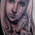 фото тату Икона Божьей Матери от 20.06.2018 №053 - tattoo Mother of God - tatufoto.com