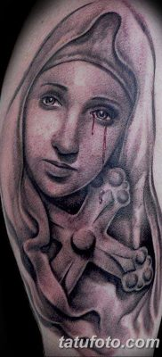 фото тату Икона Божьей Матери от 20.06.2018 №053 – tattoo Mother of God – tatufoto.com