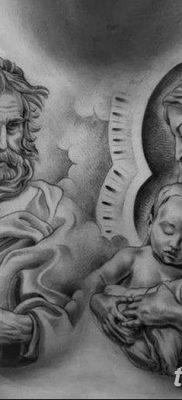 фото тату Икона Божьей Матери от 20.06.2018 №055 – tattoo Mother of God – tatufoto.com