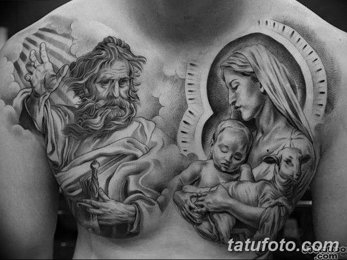 фото тату Икона Божьей Матери от 20.06.2018 №055 - tattoo Mother of God - tatufoto.com