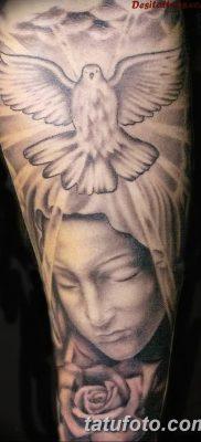 фото тату Икона Божьей Матери от 20.06.2018 №057 – tattoo Mother of God – tatufoto.com