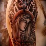 фото тату Икона Божьей Матери от 20.06.2018 №062 - tattoo Mother of God - tatufoto.com