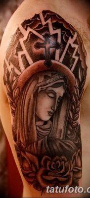 фото тату Икона Божьей Матери от 20.06.2018 №062 – tattoo Mother of God – tatufoto.com
