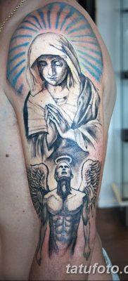 фото тату Икона Божьей Матери от 20.06.2018 №064 – tattoo Mother of God – tatufoto.com