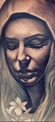 фото тату Икона Божьей Матери от 20.06.2018 №068 – tattoo Mother of God – tatufoto.com