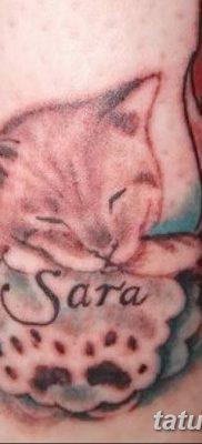 фото тату Кошка с крыльями от 26.06.2018 №003 – Cat tattoo with wings – tatufoto.com