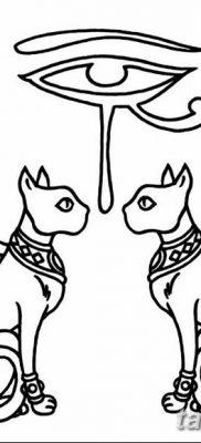 фото тату Кошка с крыльями от 26.06.2018 №010 – Cat tattoo with wings – tatufoto.com