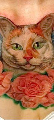 фото тату Кошка с крыльями от 26.06.2018 №012 – Cat tattoo with wings – tatufoto.com
