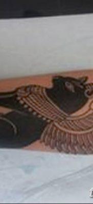 фото тату Кошка с крыльями от 26.06.2018 №014 – Cat tattoo with wings – tatufoto.com