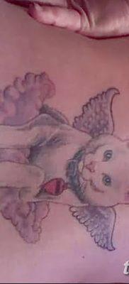 фото тату Кошка с крыльями от 26.06.2018 №018 – Cat tattoo with wings – tatufoto.com