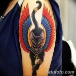 фото тату Кошка с крыльями от 26.06.2018 №026 - Cat tattoo with wings - tatufoto.com