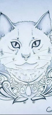 фото тату Кошка с крыльями от 26.06.2018 №034 – Cat tattoo with wings – tatufoto.com