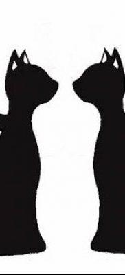 фото тату Кошка с крыльями от 26.06.2018 №035 – Cat tattoo with wings – tatufoto.com