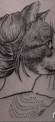 фото тату Кошка с крыльями от 26.06.2018 №039 – Cat tattoo with wings – tatufoto.com