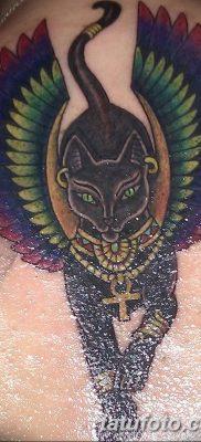 фото тату Кошка с крыльями от 26.06.2018 №056 – Cat tattoo with wings – tatufoto.com
