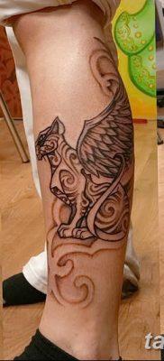фото тату Кошка с крыльями от 26.06.2018 №060 – Cat tattoo with wings – tatufoto.com