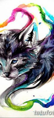 фото тату Кошка с крыльями от 26.06.2018 №065 – Cat tattoo with wings – tatufoto.com